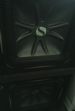2- KICKER 12 inch speakers in ported boxes. for Sale in Temple Hills, MD