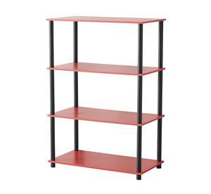 4 Shelf Standard Storage Bookshelf, Red No Tools New for Sale in Modesto, CA