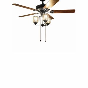"""52"""" Classical Retro Ceiling Fan Lamp with 5 Reversible Blades Crystal Lampshade for Sale in Rowland Heights, CA"""