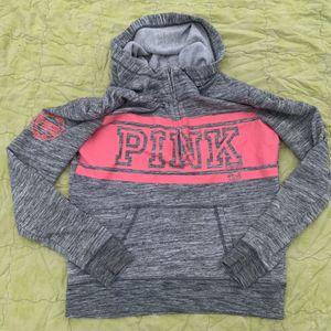 VS Pink Gray and Pink Pocket Hoodie for Sale in Davidsonville, MD