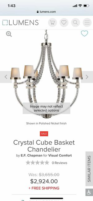 Crystal Cube basket Chandelier for Sale in Englewood, CO