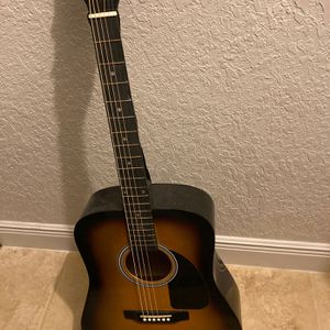 Fender Squier Dreadnought Acoustic Guitar - Sunburst Bundle with Fender Play Online Lessons, Gig Bag, Tuner, Strings, Strap, Picks, and Austin Bazaar for Sale in Winter Springs, FL