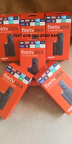 Brand New Loaded Amazon Fire TV Stick with Volume and Voice Remote for Sale in Conley, GA