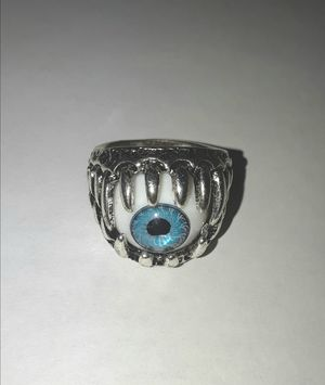 Like New Mens Stainless Steel Evil Eye Ring for Sale in Queens, NY