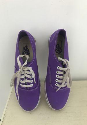 Purple Vans SIZE 7 Women for Sale in Oak Forest, IL