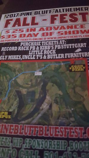2 Pair of Fall Fest Blues Tickets for Sale in Little Rock, AR