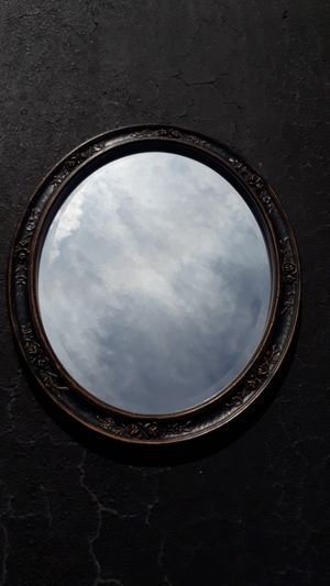 Oval wall mirror for Sale in Fort Lauderdale, FL