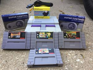 Super Nintendo System + Mario & Donkey Kong Games Bundle For Sale for Sale in Austin, TX
