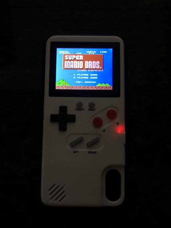 iPhone X Nintendo game boy case