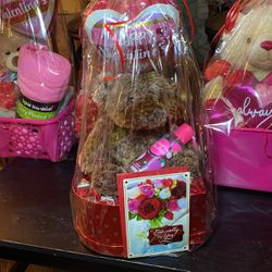 Lv Valentines Gift With Mask Chocolate And Card With Bear And Baby Ballon for Sale in Oakland,  CA