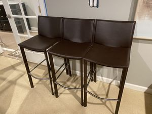 Leather bar stools for Sale in Bothell, WA