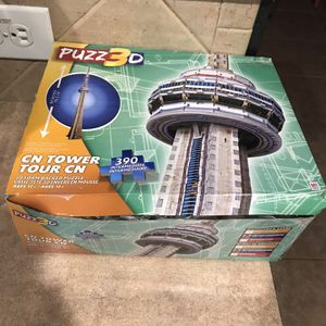 NEW Puzz 3D CN Tower Tour CN 390 PC Form Backed Puzzle for Sale in Cibolo, TX