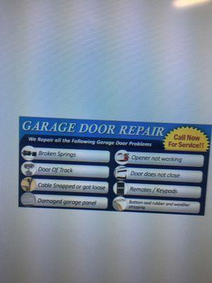 Garage doors repair or replace at low cost for Sale in Chula Vista, CA