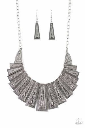 Tribal silver necklace set for Sale in Riverdale, MD