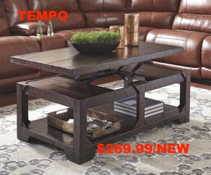 Rognes Lift Top Coffee Table, Rustic Brown for Sale in Garden Grove, CA