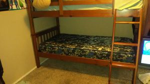 Bunk bed with two mattress good condition for Sale in Abilene, TX