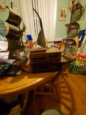 Majestic melody cruiser sailing ship wood case tube radio for Sale in La Mirada, CA