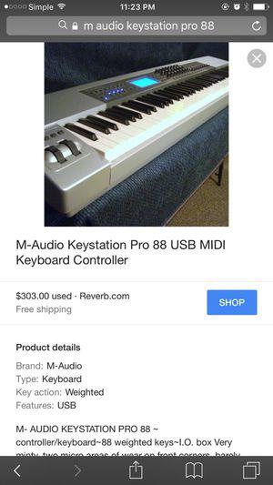 M audio keystation pro 88 midi keyboard for Sale in New York, NY