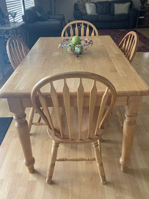 Kitchen table blonde wood for Sale in Land O' Lakes, FL
