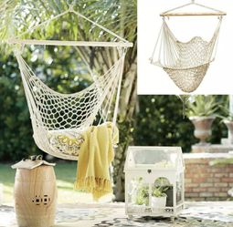 Hammock Chair Swing Hanging Rope Seat Net Chair Tree Outdoor Porch Patio Indoor for Sale in San Diego,  CA