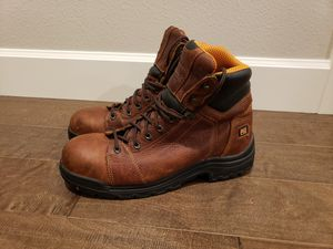 "MEN'S SIZE 12 TIMBERLAND PRO TITAN 6"" ALLOY TOE WORK BOOTS GREAT CONDITION! HARDLY USED! for Sale in Ridgefield, WA"