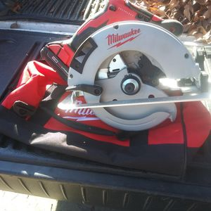 New Milwaukee M18 Circular Saw + Battery + Bag for Sale in Modesto, CA