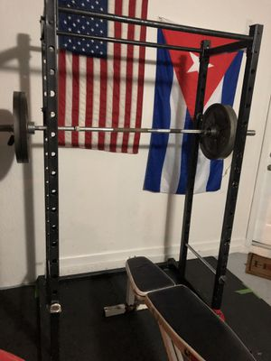 Squat rack/ Weight set for Sale in Princeton, FL