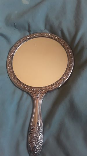 Sterling silver one handheld antique mirror heavy in weight for Sale in California City, CA