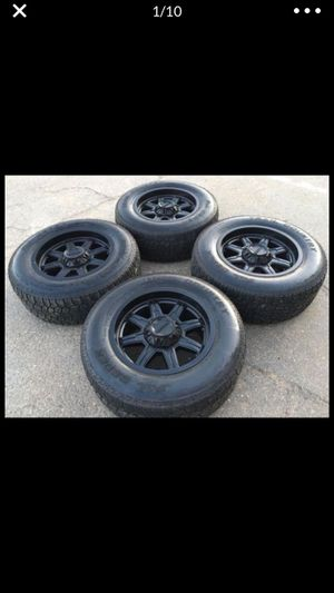 """18"""" Ultra 6 lug Rims & 265/65/18 AT Tires for Sale in Modesto, CA"""