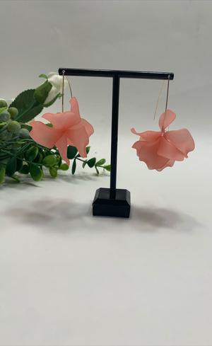 Resin Flower Long Earrings , Pink for Sale in Los Angeles, CA