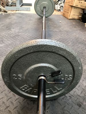 7' foot standard 1 inch straight bar with weight plates.Two 25 pounds for Sale in Glendale, AZ