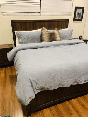 Living spaces bedroom set. Gently used for 1 year. Mattress not included. for Sale in Redondo Beach, CA