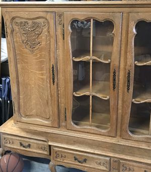 Antique oak china cabinet for Sale in St. Helens, OR