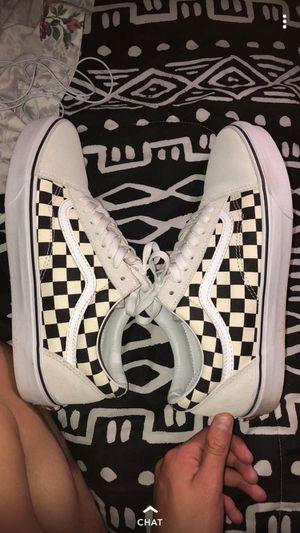 White Checker Vans for Sale in Gainesville, VA