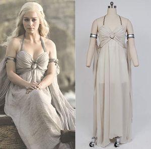 Game of Thrones Costume Mother of Dragons Daenerys Targaryen White Dress for Sale, used for sale  Fullerton, CA
