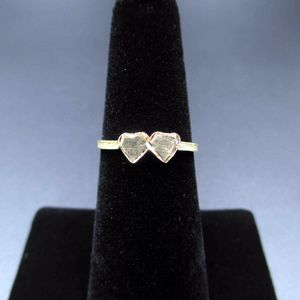 Vintage Size 6 14K Yellow Gold Double Heart Love Band Ring Wedding Engagement Anniversary Elegant Beautiful Everyday Unique Statement for Sale in Everett, WA