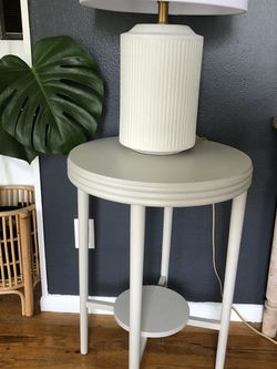 Beautiful Light Gray Side Table (wood) for Sale in Newberg,  OR