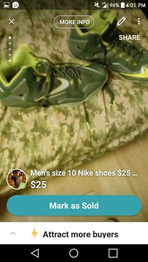 Men's size 10 Nike shoes LeBron James $15 for Sale in Denver, CO