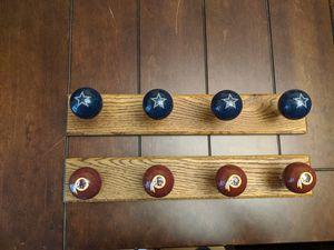 Cowboys/Redskins Coat Rack for Sale in Wichita, KS