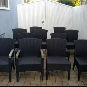 Glouster Rattan Outdoor Dining Set (10 chairs) for Sale in Los Angeles, CA