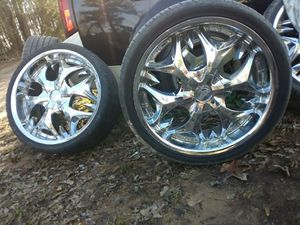 20in low profile rims and tires for Sale in Childersburg, AL