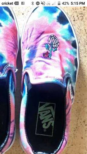 Tye dyed Rose Skeleton Vans for Sale in Tucson, AZ