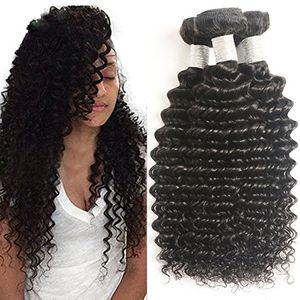 Brazilian Deep wave virgin human hair bundles 3 bundles deal for Sale in Atlanta, GA