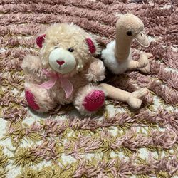 Plush Ostrich And Teddy Bear for Sale in Washougal,  WA