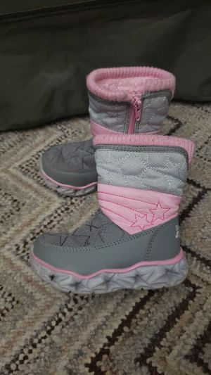 Skechers S lights 6c toddlers girl pink boots lights for Sale in Corona, CA