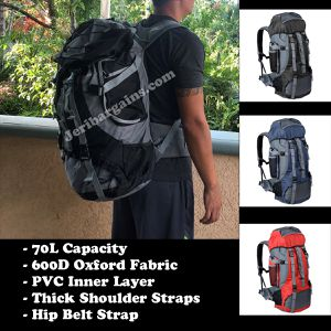 New 70L Camping Hiking Large Capacity Backpack Rucksack for Sale in Riverside, CA