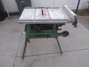 Hitachi table saw on wheels for Sale in Moreno Valley, CA