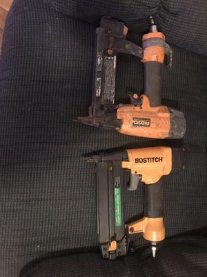 Rigid staple gun and bostitch finish nailer for Sale in Austin, TX