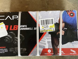 Cap Vinyl Dumbbell Set for Sale in Tacoma,  WA