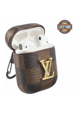 Luxury Leather Shockproof Cover Wireless Headphone Designer Fashion Fun Cool Keychain Design Skin Protective Apple Airpods Cases Ring Iphone Ipad for Sale in Federal Way, WA